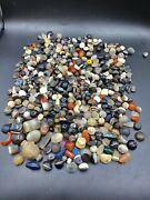 Lot Of Old Spiritual Beads Indo Tibet Sulumani Ancient Broken Amulet Jewelry
