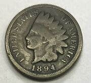 1894/1894 Indian Head Cent Nice Circulated Coin - L@@k At Pictures 1201