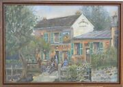 Le Lapin Agile By Maurice Paquot 1937-1993french Artistpaintingparis-france