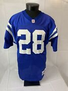 Vintage Indianapolis Colts Jersey Authentic Marshall Faulk 28 Wilson Team Sz 48