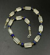 Old Antique Traditional Cultural Amulet Jewelry Crystals ,lapis Beads Necklace
