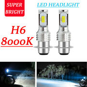 P15d H6m 2-smd Led Motorcycle Fog Drl Headlight Hi/lo Beam Lamp Px15d Bulb 8000k