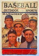 Baseball Magazine Outdoor Sports October 1911 Managers' Number Gc