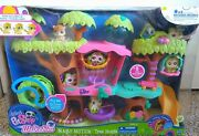 New In Box 2011 Littlest Pet Shop Magic Motion Treehouse Playset W Walkable 2111