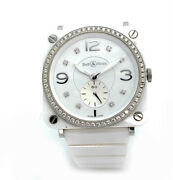 Bell And Ross Aviation Diamond White Ceramic Ladies 39mm Watch Brs-98-pwcd