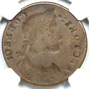 1787 M 31.1- Ngc F 12 Obv Brockage Connecticut Colonial Copper Coin