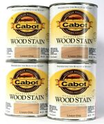 4 Cans Cabot Premium Woodcare Penetrating Wood Stain Limed Oak Color 8133 Quart