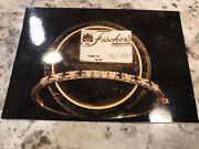 18 K Gold And 10 Diamond And 6 Sapphire Tennis Bracelet South African 6 Inch