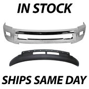 New Chrome Steel Front Bumper Face Bar Lower Valance For 2013-2018 Ram 2500/3500