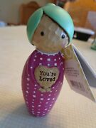 New W/tag Hallmark Omura Doll Collection Japanese Kokeshi Style Mom Youand039re Loved