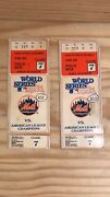 1986 World Series Game 7 Ticket Stubs Ny Mets Vs. Boston Red Sox