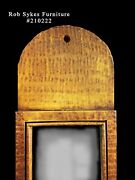 Tiger Maple Paint Decorated Queen Anne Style Mirror By Rob Sykes Furniture