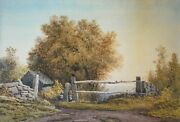 Antique Original Watercolor On Paperby Henry Hitchings American, 1824 - 1902