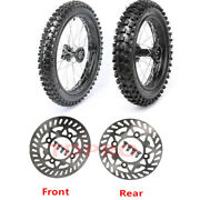Front Rear 70/100-17 And 90/100-14 Tires Rims Wheel Disc Crf70 Pit Bike Yz85 Cr80