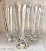 Nwt Set Of 8 Lenox Tuscany Classics Pilsner Beer Glasses, Old Stock