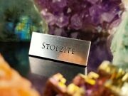 Stolzite Gem Display Name Plate - Exhibit Artifact Label - Museum Quality