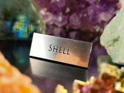 Shell Gem Display Name Plate - Exhibit Artifact Label - Museum Quality