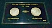 United States Silver Dollars 100 Years Morgan And Silver Eagle Coin Set 1888and1988