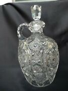Eapg Cambridge Clear Pattern 2351 Decanter And Stopper Very Good Used Condition