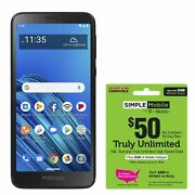 Simple Mobile Moto E6 4g Lte Prepaid Cell Phone W/ 50 Airtime Plan Included