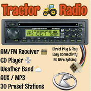Kubota Tractor Rtv B2650 Rtx Am Fm Cd Aux Weather Receiver Direct Plug And Play