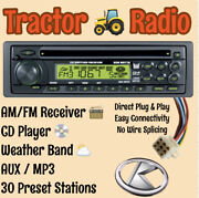 Kubota Tractor Lx Rtv 1100 Rtx 1100c Am Fm Cd Aux Weather Receiver Plug And Play