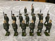 Lead Soldiers Lot Of 16 Britains Ltd England Pre-wwii Vintage Army Military Nice