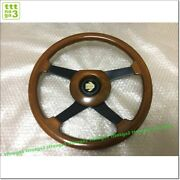 Momo Wood Vintage Steering Wheel With Horn Button