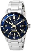 Orient Star Watch Rk-au0304l Men's Silver Band Navy Dial Analog Sports Diver