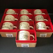 Starbucks You Are Here 2014 Holiday Ornament Christmas Complete Set