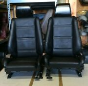 Bmw E30 325/318 New Black Front Seats Pair For Convertibles 1982-91 1500.00