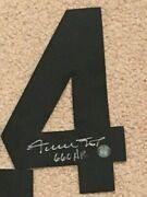 Willie Mays Signed Autographed Auto Jersey 4 Say Hey Authenticated 5x8in