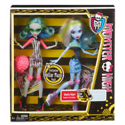 Monster High Skultimate Roller Maze Ghoulia Yelps And Abbey Bominable Doll 2-pack