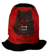 Vtg 90s Wwe Wwf Nwo The Wolf Pack Stove Pipe Top Hat Cap Adult Party Festival