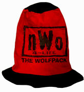 Vtg 90s Wwe Wwf Nwo The Wolf Pack Double Sided Stove Pipe Top Hat Cap Festival