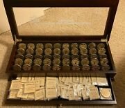 Nfl Danbury Mint Super Bowl 51 Flip Coin Collection In Display Case