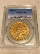 1867-s 20 Pcgs Xf45 Liberty Double Eagle Gold Coin Very Nice Great Appeal Pq
