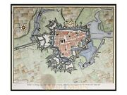 Ypres A Strong City History Of Belgium Town Plan Rapin 1743