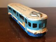 1939 Ny Worlds Fair Arcade Toy Bus Cast Iron 10 3/8andrdquo Greyhound Lines Bus Trolley