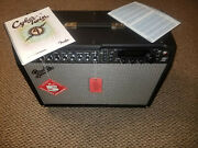 Fender Cyber-twin Amp With Footswitches Cover Manual Docs Wheels Tags.