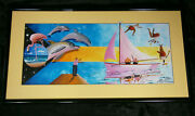 Leo Brown Original Art Painting A Taste Of Paradise Bahamian 1995 In Love Boat