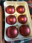 Christmas By Krebs Tree Ornaments - 2 Boxes Of 6 Beautiful Red Quick Ship