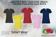 Lady-fit T-shirt - Pack Of 50 - Multi Colour Fruit Of The Loom 61372