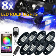 8 Pods Remote Multicolor Undercarriage Neon Light Kit App Bluetooth Controller