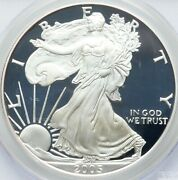 2005-w 1 Silver Eagle Proof Pcgs Pr70dcam Devices Like Frost And Mirrors Deep