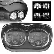 5.75 5 3/4 Motorcycle Dual Led Projector Headlight For Motor Road Glide '98-'13