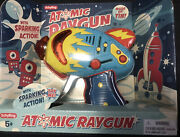 Schylling Atomic Ray Gun Tin Friction Powered Space Neptune Blue Toy Loceb27