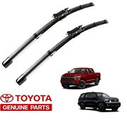 2008-2018 Sequoia And 2007-2018 Tundra Front Wiper Blades Beam Oem Genuine Toyota