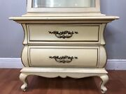 Vintage French Country Provincial Curio Cabinet Freeman Bothers Furniture