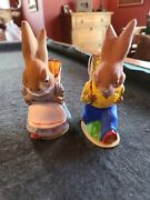Rare 1950s Easter Bunnies Candy Containers Germany